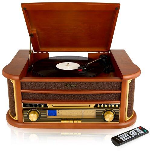 Denver MCR-50 Retro Wooden Music Centre Hi-Fi