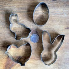 Easter Animal Cookie / Biscuit Cutters   4 Pack   Rabbit   Chic   Egg