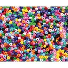 1400 Pieces Playbox Plastic Beads in Jar with Big Holes