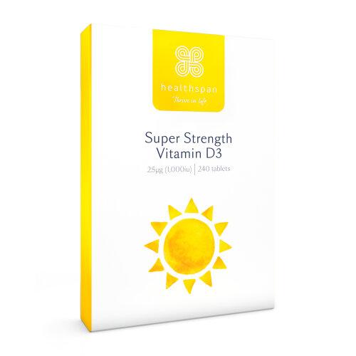(240 Tablets) Vitamin D3 (Super Strength) | Immunity | Healthspan