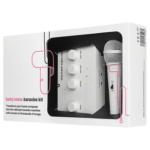 Lucky Voice White Karaoke Machine