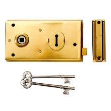 Yale Locks 60401305078 P401 Rim Lock Black Finish 138 x 76mm Visi