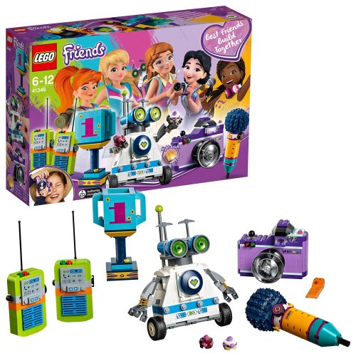 LEGO 41346 Friends Friendship Box, Five Buildable Accessories, Microphone, Camera, Trophy, Walkie-talkies and Robot Toys for Kids