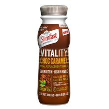 SlimFast Advanced Vitality High Protein Meal Replacement Ready-to-Drink Shake, Choc Caramel Fusion, 275 ml, Pack of 8