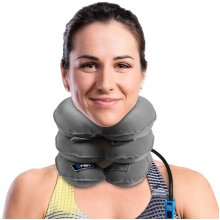 Best Cervical Neck Traction Device & Collar Brace by BRANFIT, FDA Approved Inflatable & Adjustable Neck Support Pillow is Ideal for Spine Alignment