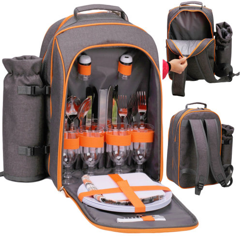 Geezy 4-Person Picnic Cooler Bag With Accessories
