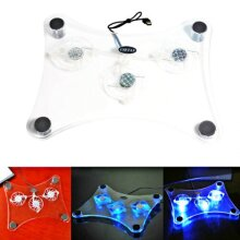 13-16 Inch Laptop Cooling Pad Laptop Cooler with 3 Quiet LED Fans