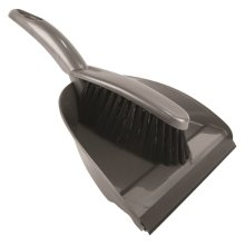 Silver Strong Good Quality Dustpan & Brush Set Dust Pan Cleaning Sweeping Kitchen