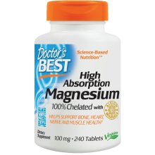 Doctor's Best  High Absorption Magnesium, 240 tabs(100mg)
