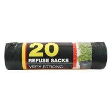 20pk Black Bin Bags