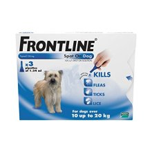FRONTLINE Spot On for Medium Dogs, 10-20kg, 3 Pipettes