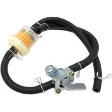 POFET Motorcycle Fuel Gasoline Oil Filter and Black Petrol Oil Pipe for 50CC-150CC ATV Quad Bike