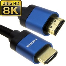 HDMI v2.1 Ultra High Speed HDR 8K 4K 60Hz 48Gbps eARC Cable 1m BLUE