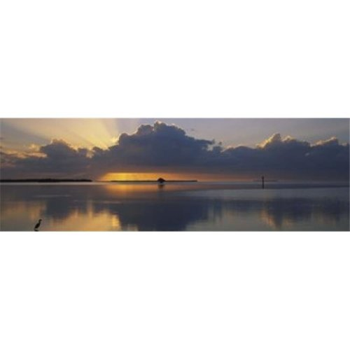 Reflection of clouds in the sea  Everglades National Park  near Miami  Florida  USA Poster Print by  - 36 x 12