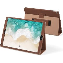 Snugg iPad Air 3 (2019) / iPad 10.2' (7th Gen) / iPad Pro 10.5' Leather Case, Flip Stand Protective Cover - Distressed Brown
