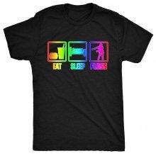 8TN Eat Sleep Floss Rainbow - Dance Hip Hop Womens T Shirt