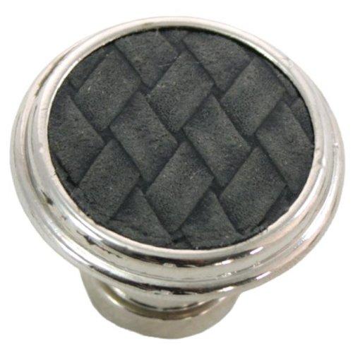 Laurey 12099 1.13 in. Round Knob - Polished Nickel & Black
