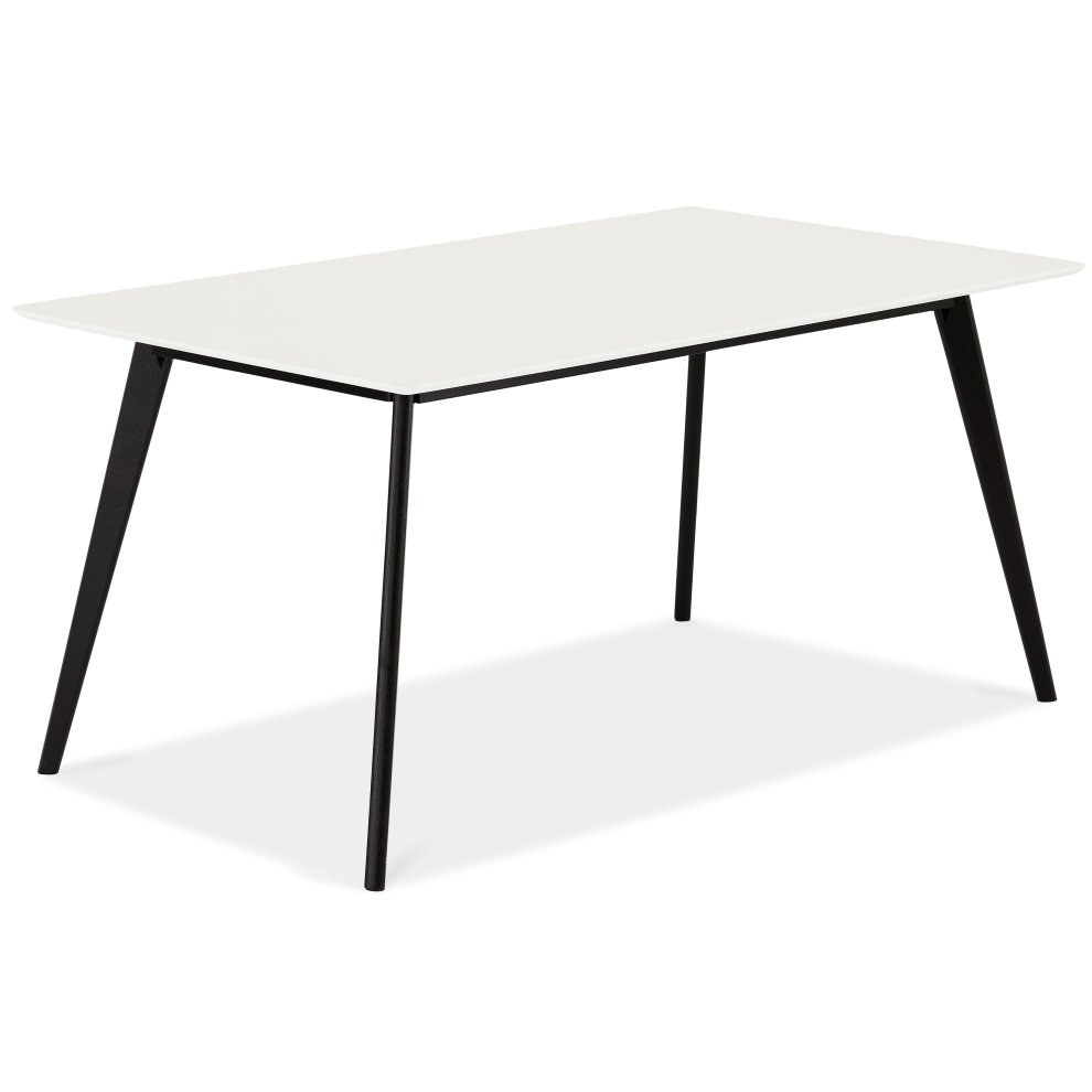 Furnhouse Life Rectangular Dining Table White Top Black Legs 160x90x75 Cm On Onbuy