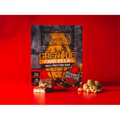 Grenade Carb Killa High Protein Bar Peanut Nutter 12x60g BESTBEFJUNE20