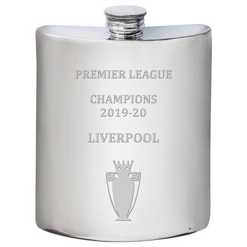 Liverpool 2019-20 Premier League Champions, 6oz Pewter Hip Flask