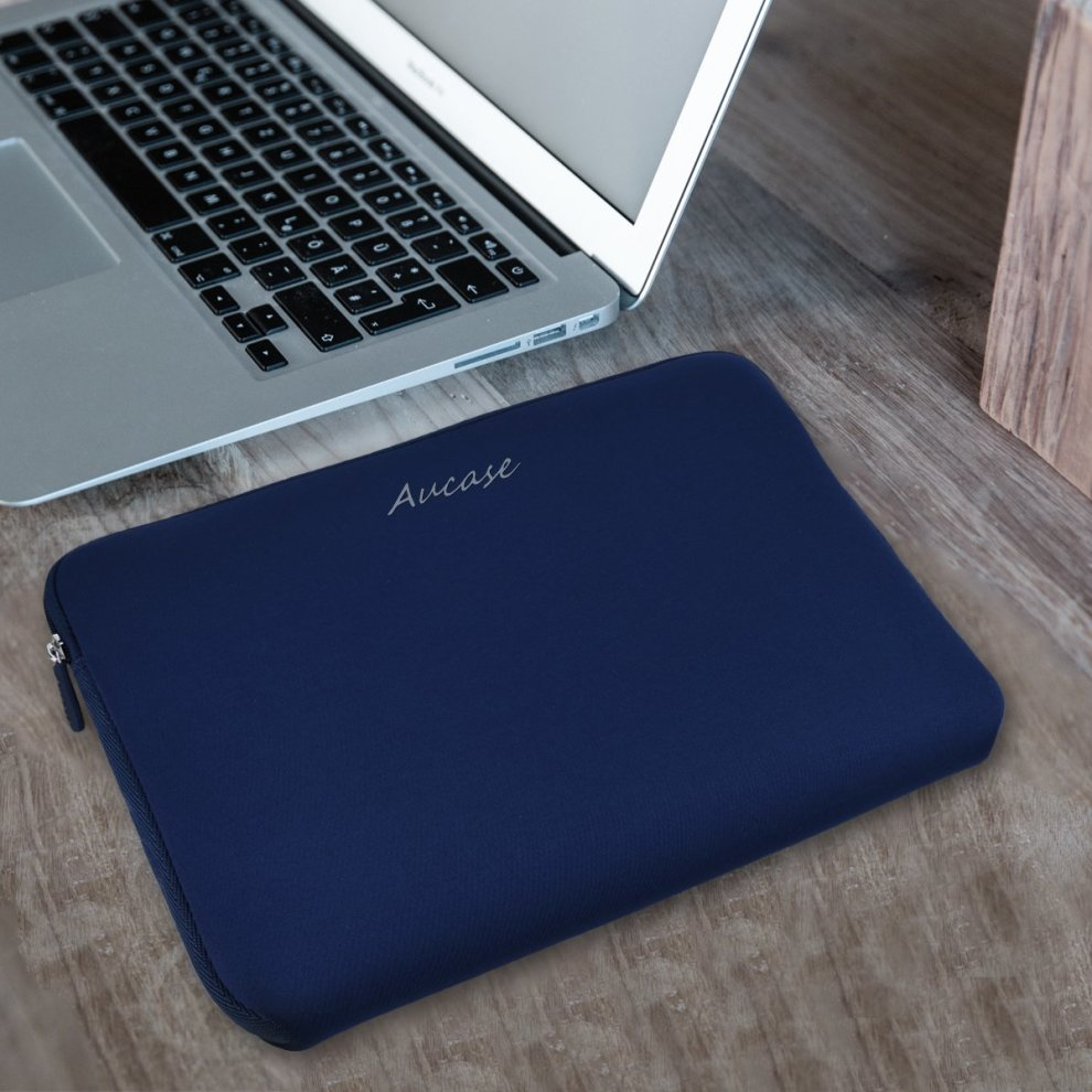 Aucase 15-15.6 Inch Laptop Sleeve Canvas Thickest Lightest Water Resistant Neoprene Protective Case