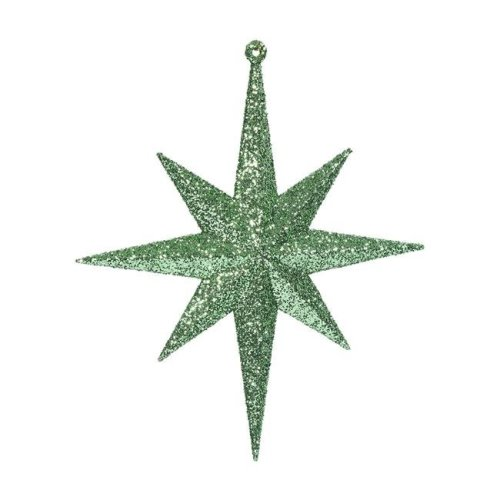 Celadon Glitter Bethlehem Star Ornament - 8 in. - 4 Per Box