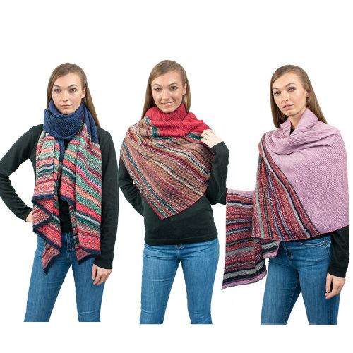 Miss Lulu Women's Stripe Scarf | Striped Shawl