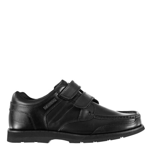 Kangol Mens Harrow Vel Smart Hook and Loop Leather Padded Ankle Collar Shoes