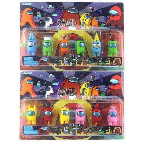 6PCS/Set Among Us Action Figures Collection Plastic Dolls Game Toys