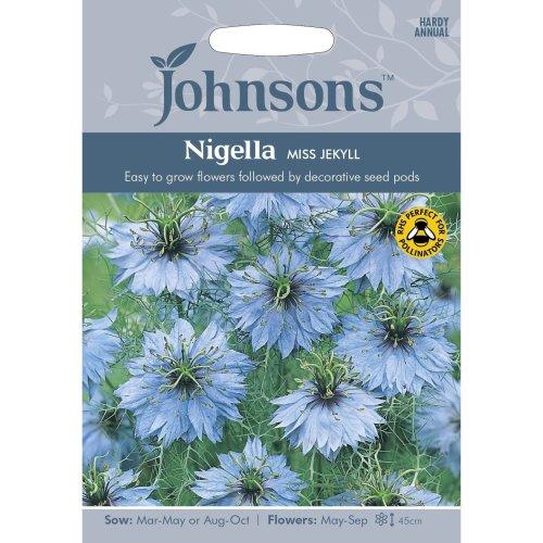 Johnsons Seeds - Pictorial Pack - Flower - Nigella Love in a Mist Miss Jekyll - 700 Seeds