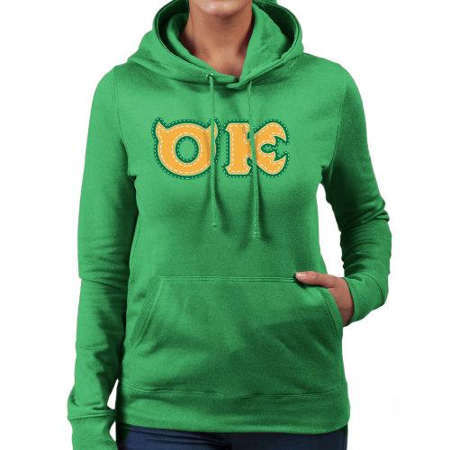 Monster University Fraternity Oozma Kappa OK Women's Hooded Sweatshirt