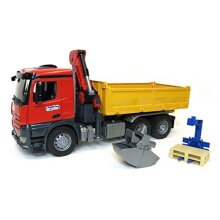 Bruder MB Arocs Construction Truck with Crane and Accessories