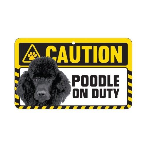Poodle (Black) Caution Sign