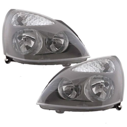 Renault Clio Mk2 2001-2005 Headlights Headlamps 1 Pair O/s & N/s