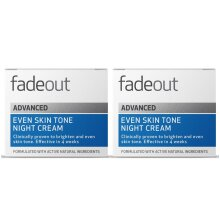 Fade Out Advanced Even Skin Tone Night Cream 2 x 50ml - Brightening Night Cream With Niacinamide, Hyaluronic Acid, Lactic Acid, and Rosehip Seed Oil