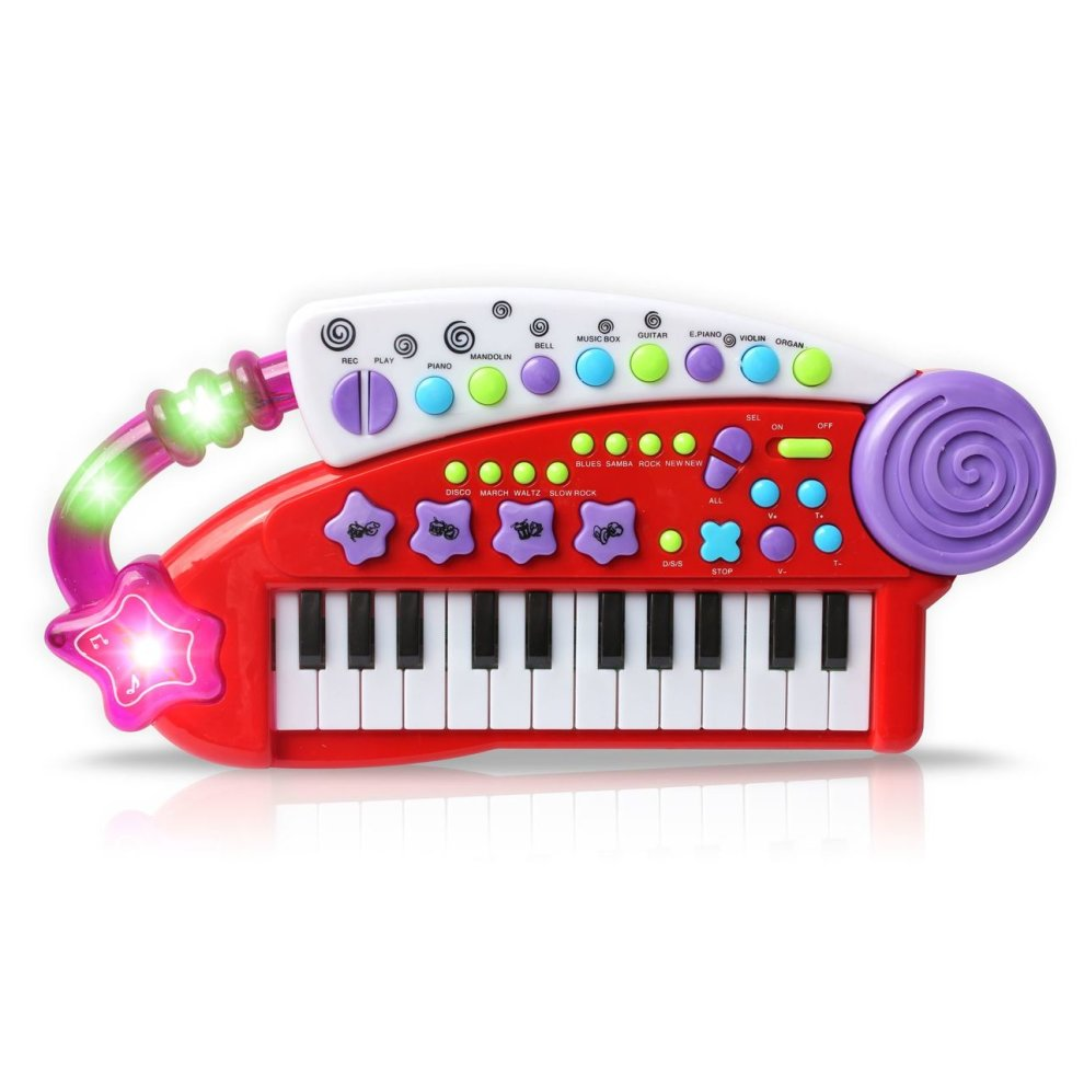 Vinsani Carry Along Keyboard Children Kids Musical Instrument Toy
