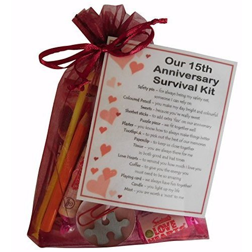 15th Wedding Anniversary Gift For Wife: 15th Anniversary Survival Kit Gift