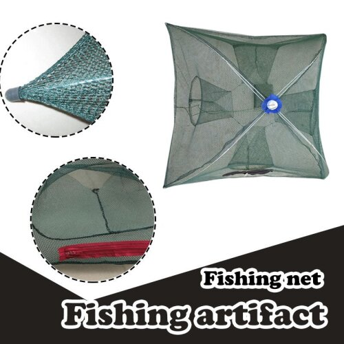 Portable folding fishing net pond river bait casting net