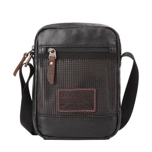 TRP0458 Troop London Classic Canvas Messenger Bag | Buy Bags Online | Canvas Messenger Bags | leather canvas backpack