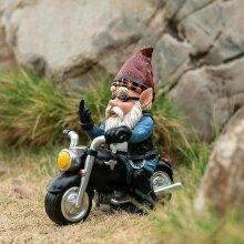 Garden Gnomes Statues Motorcycle Dwarf Decor