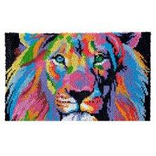 Rainbow Lion Rug Latch Hooking Kit (85x58cm)