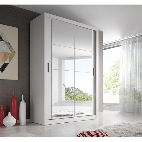 (White Matt) Arti 19 - 2 Sliding Door Wardrobe 120cm