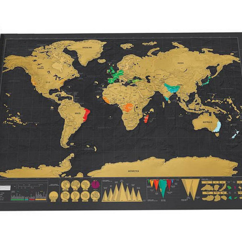Funny World Map Scratch off paper