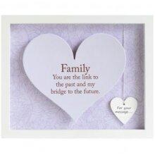 Sentiment Heart Frame - Rectangular - Family
