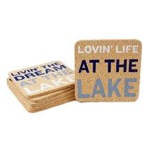 "DEI Lake Sayings Coasters, 4""sq, Mulitcolor"