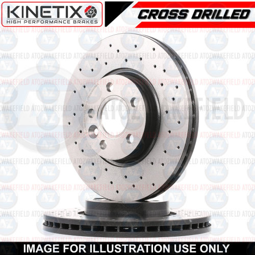 FOR BMW X2 20d 25d F39 2017- REAR CROSS DRILLED BRAKE DISCS PAIR 300mm COATED
