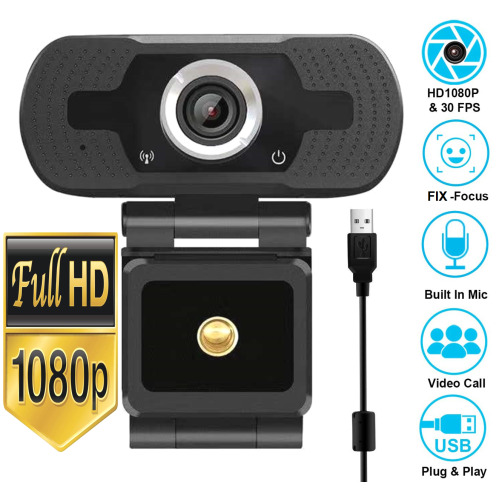Full HD 1080P PC USB 2.0  Webcam with Microphone For PC Laptop Desktop