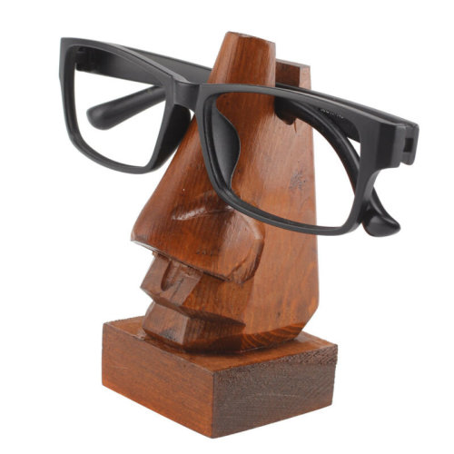 Glasses Stand Quality Wooden Holder Spectacles Specs Hand Carved