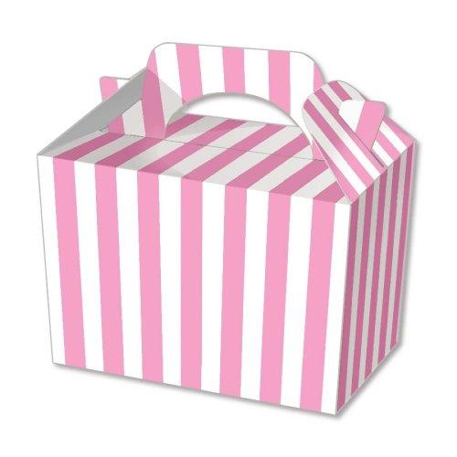 10 Pink Stripe Boxes