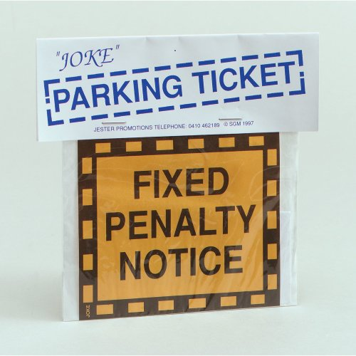 Joke Parking Penalty Ticket - Prank Fake Fancy Dress Fixed Notice Prank -  joke parking ticket prank fake fancy dress JOKE PARKING TICKET FIXED
